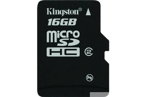 Kingston 16GB microSDHC UHS-I CL10 (SDCA10/16GBSP)