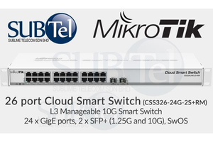 Cloud Smart Switch CSS326-24G-2S+RM 1U rack
