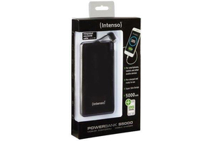 Intenso S5000 Power Bank 5000 mAh - Fekete