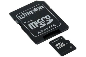 8GB microSDHC Card Class 10 +Adapter (SDC10/8GB)